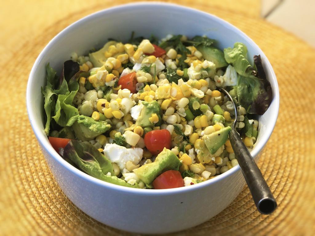 Spicy Corn Salad with Avocado & Feta
