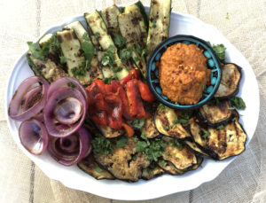 Grilled Vegetable Platter with Romesco