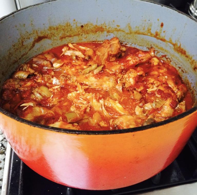 Chicken and Artichoke Stew
