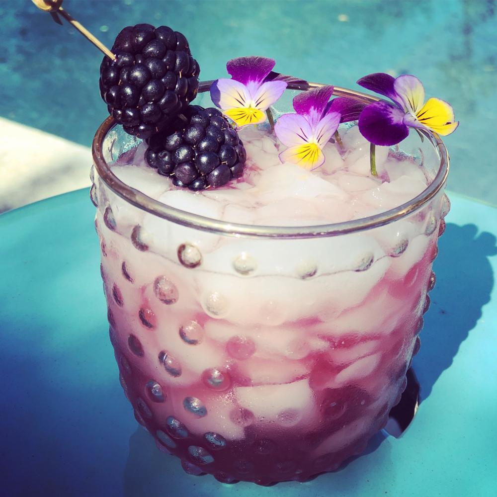 violet water cocktail