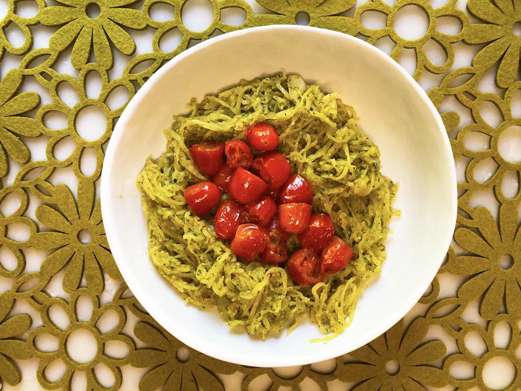 Basil Mint Pesto Spaghetti Squash