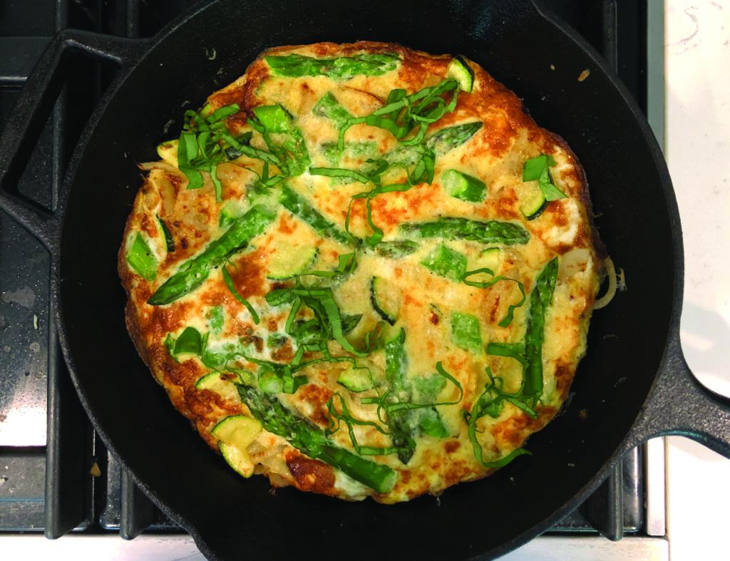 Asparagus and Parmesan Frittata