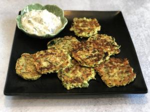 zucchini frittersZucchini Fritters with Herb Yogurt