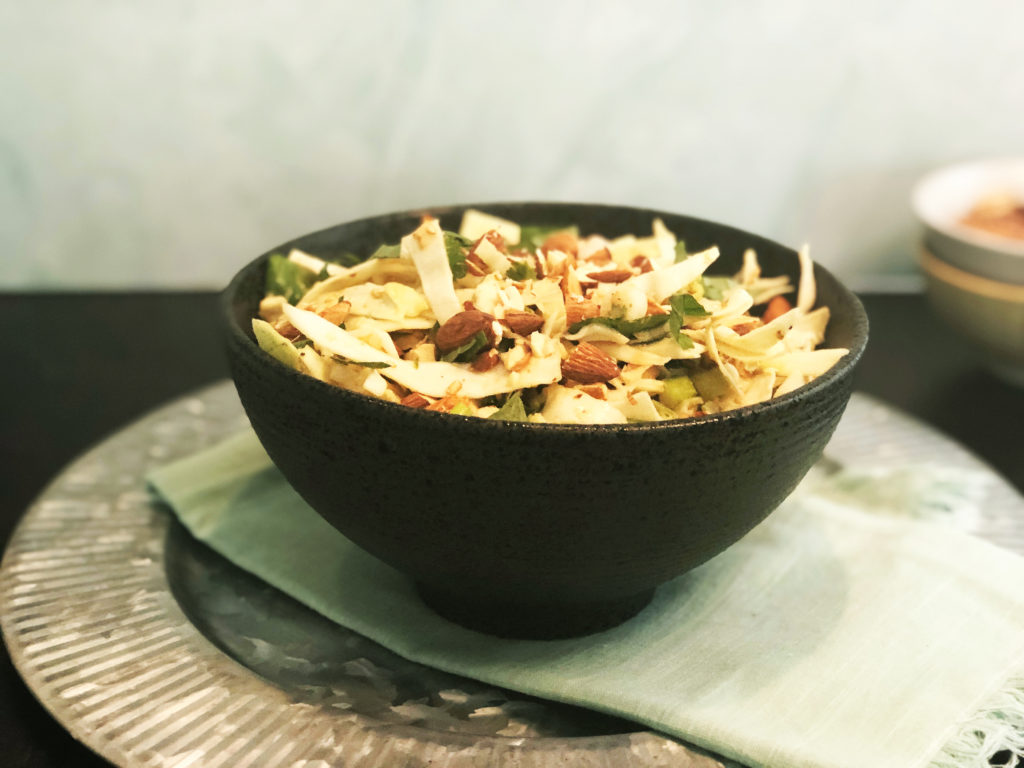 Cabbage Salad with Peanut Dressing