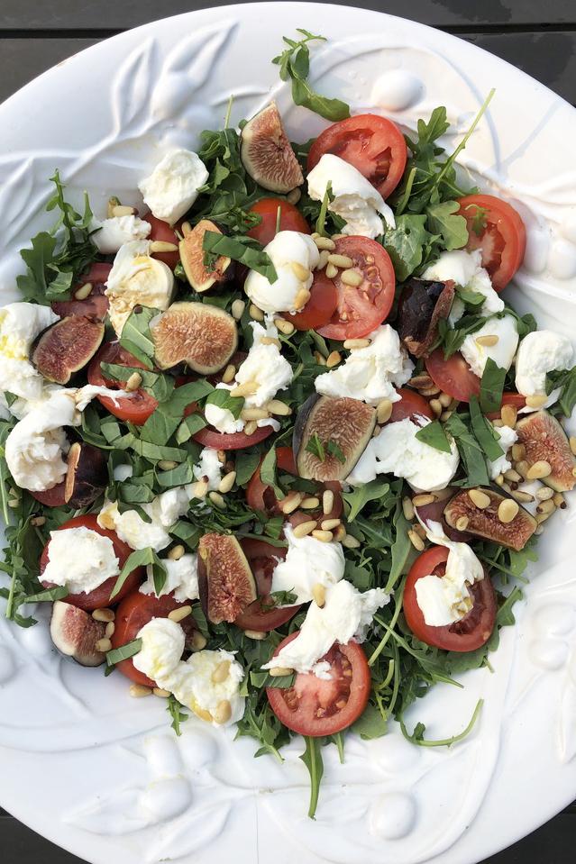 tomato, mozarella and fig salad