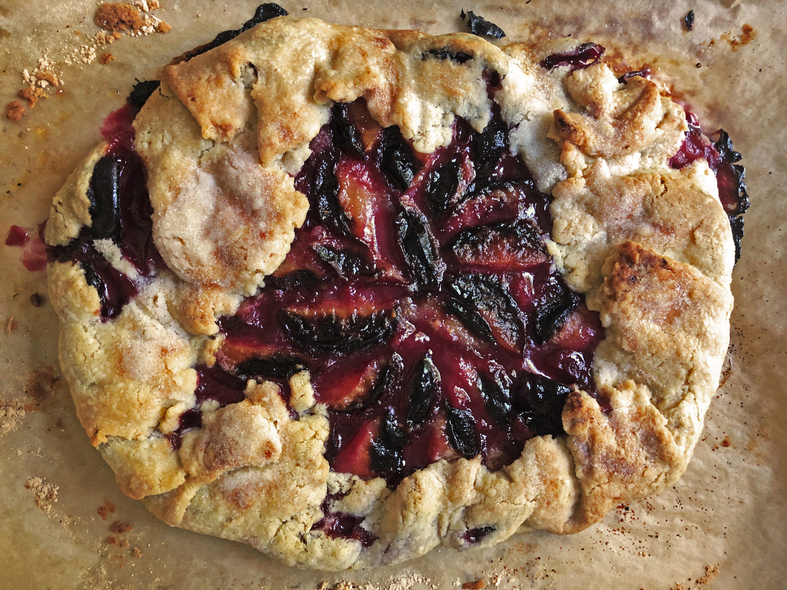 Summer Plum Galette whole pie