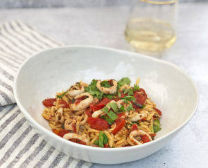 Orzo with Calamari and Tomato