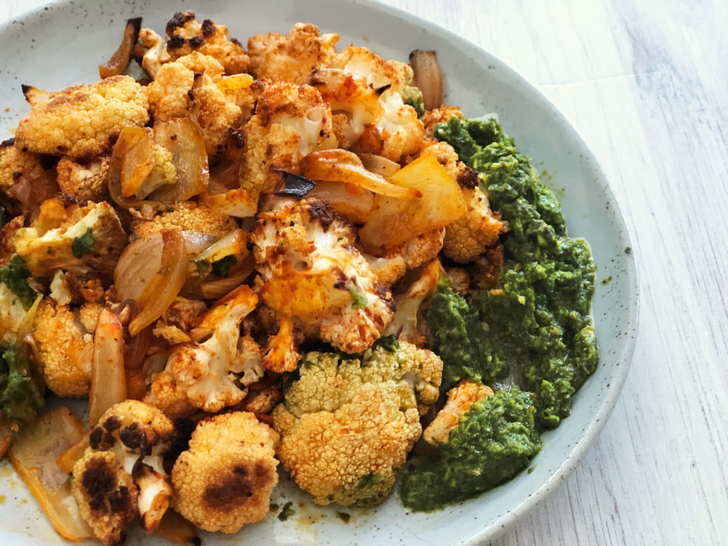 Roasted Cauliflower with Spices