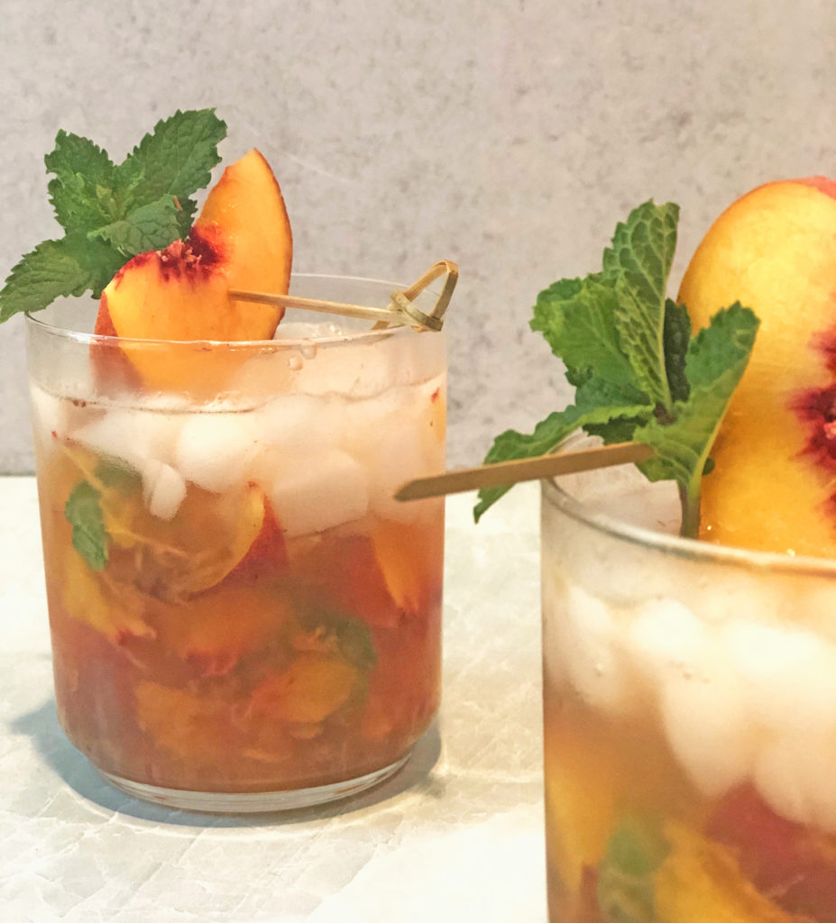 Peach Whisky Smash