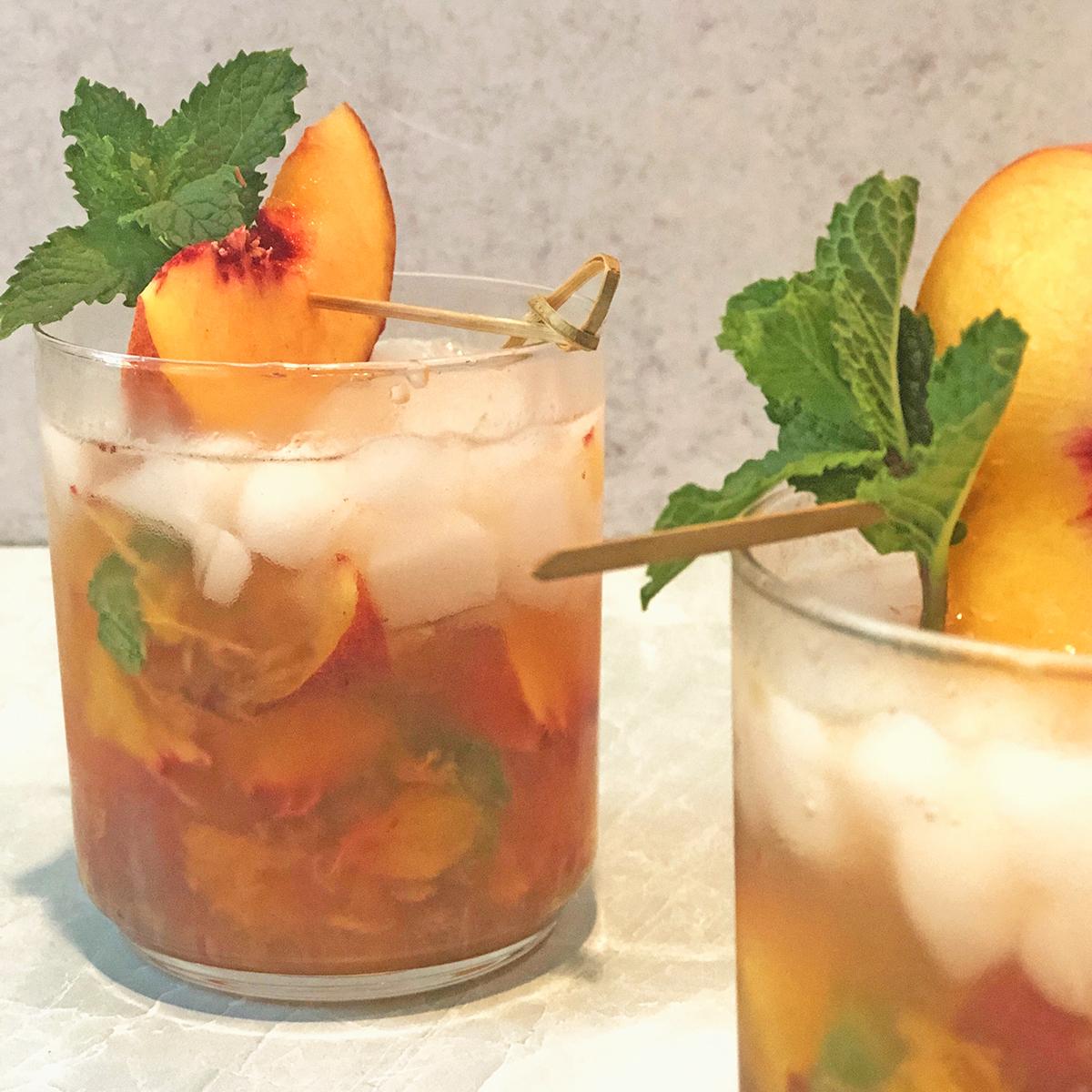 Whisky Peach Smash