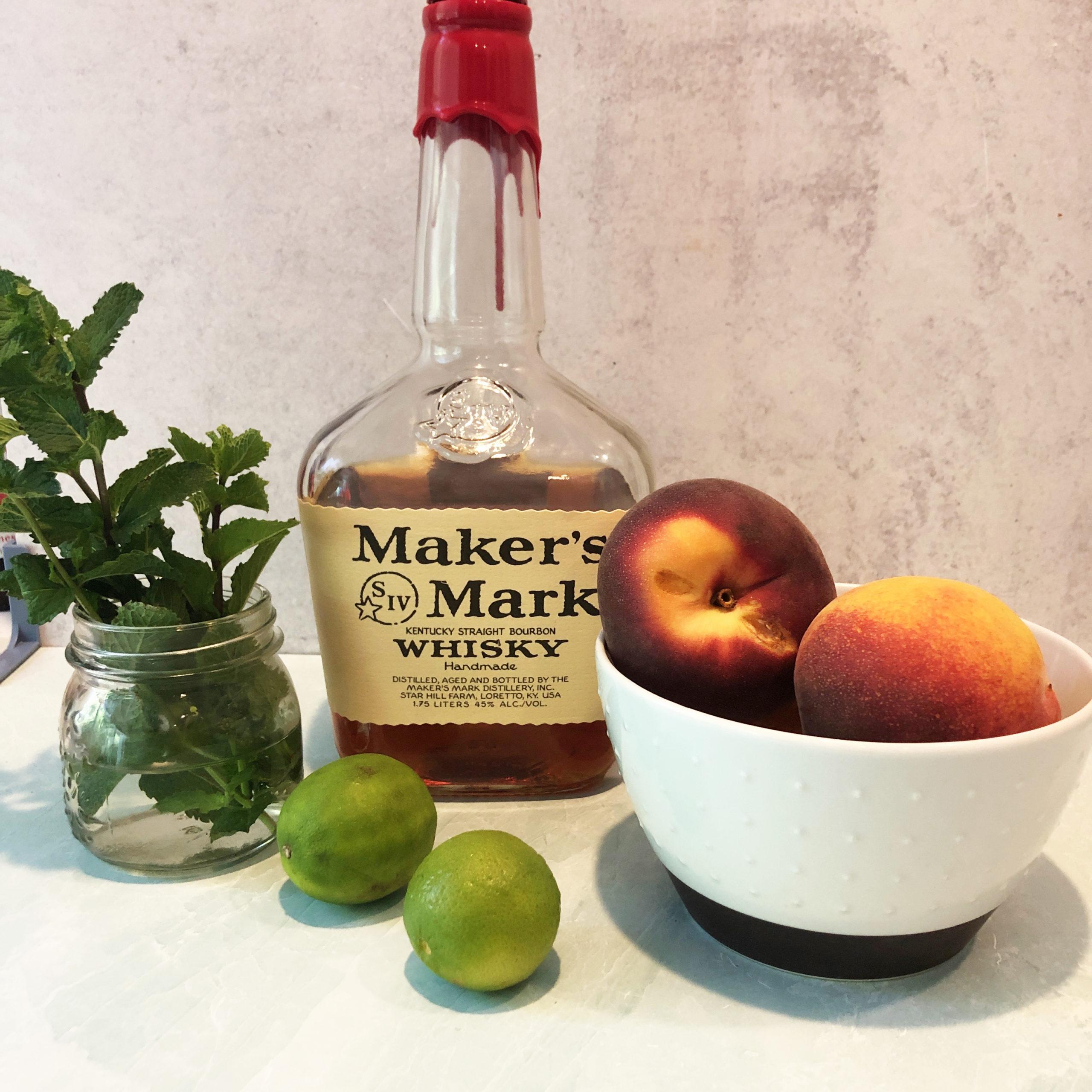 Whisky Peach Smash Ingredients