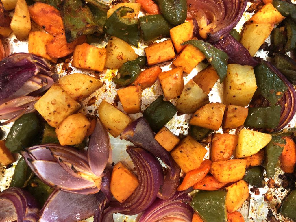 Smoky Vegetables on Sheet Pan