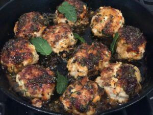 Chicken Meatballs with Balsamic Glaze