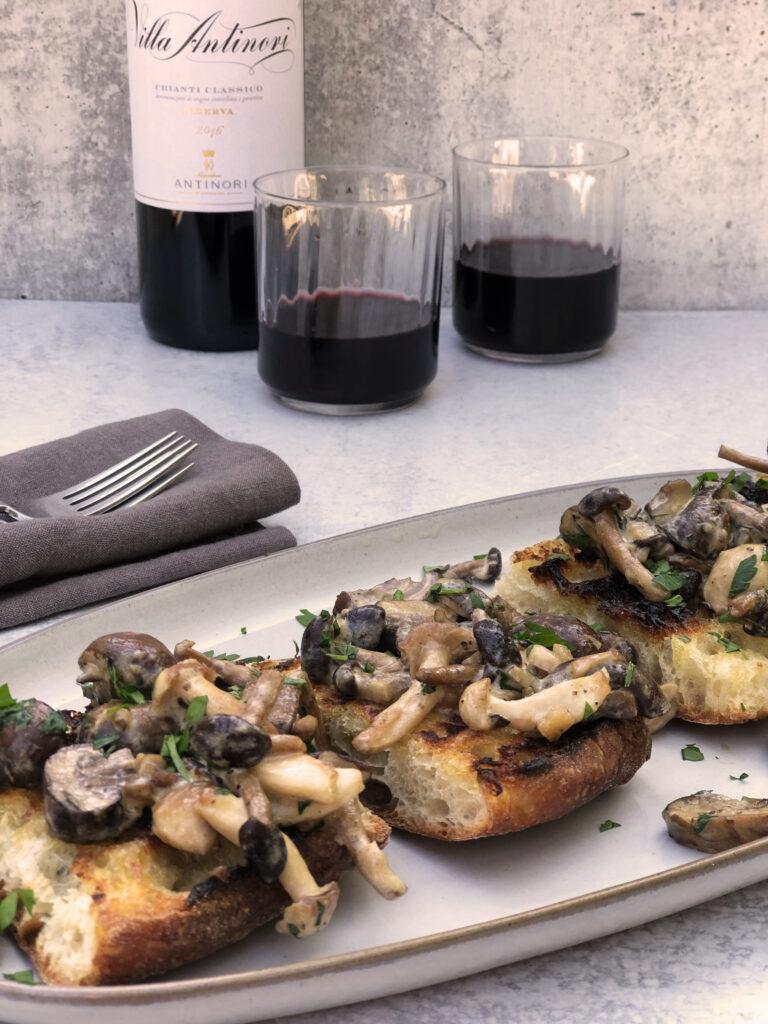 Creamy Mushroom Toast