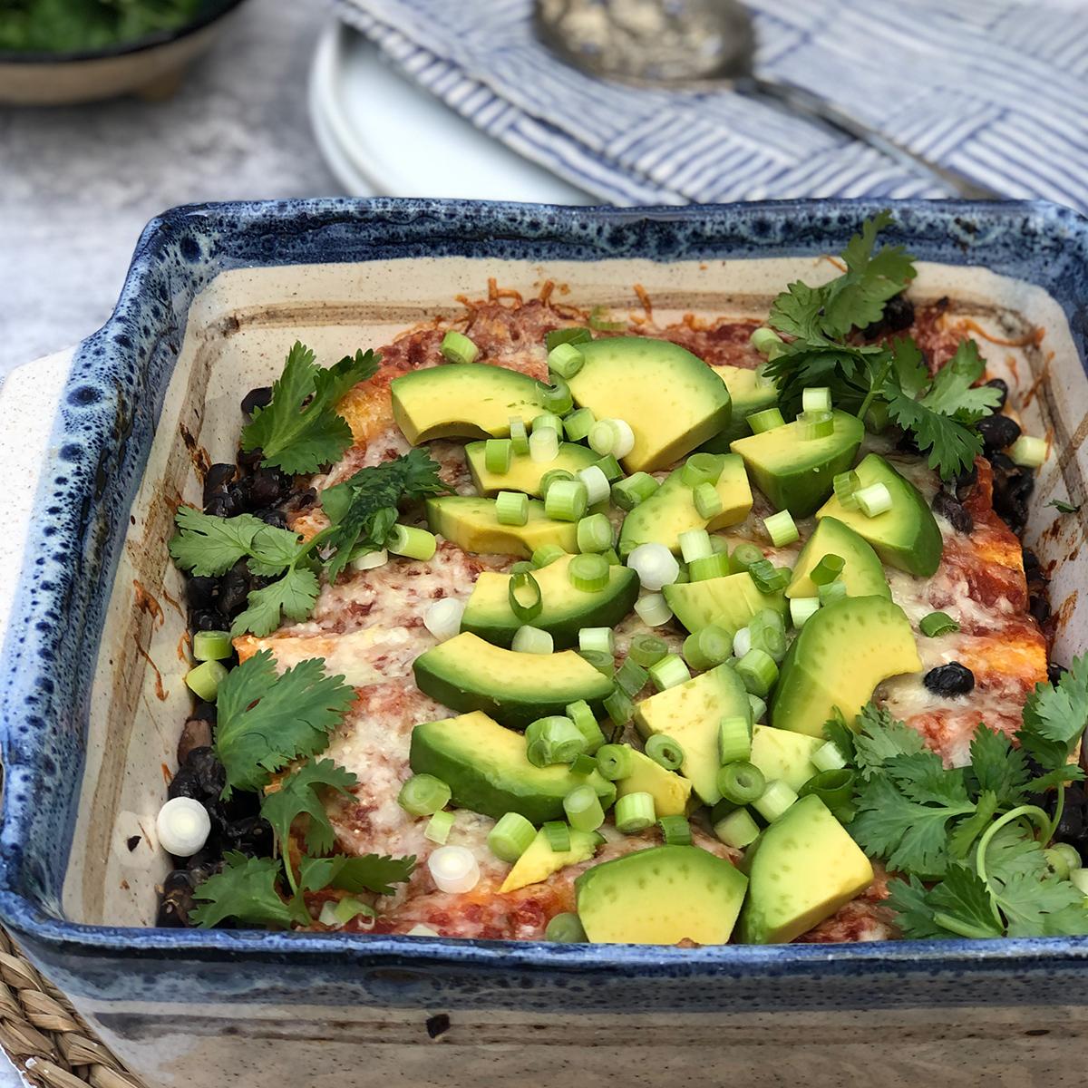 Black Vegetarian Bean & Kale Enchiladas