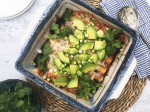 Vegetarian Black Bean & Kale Enchiladas