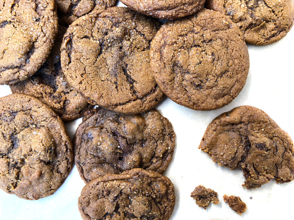 A pile of Triple Ginger Cookies