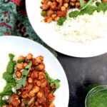 Indian Spiced Chickpea Stew with basmati rice