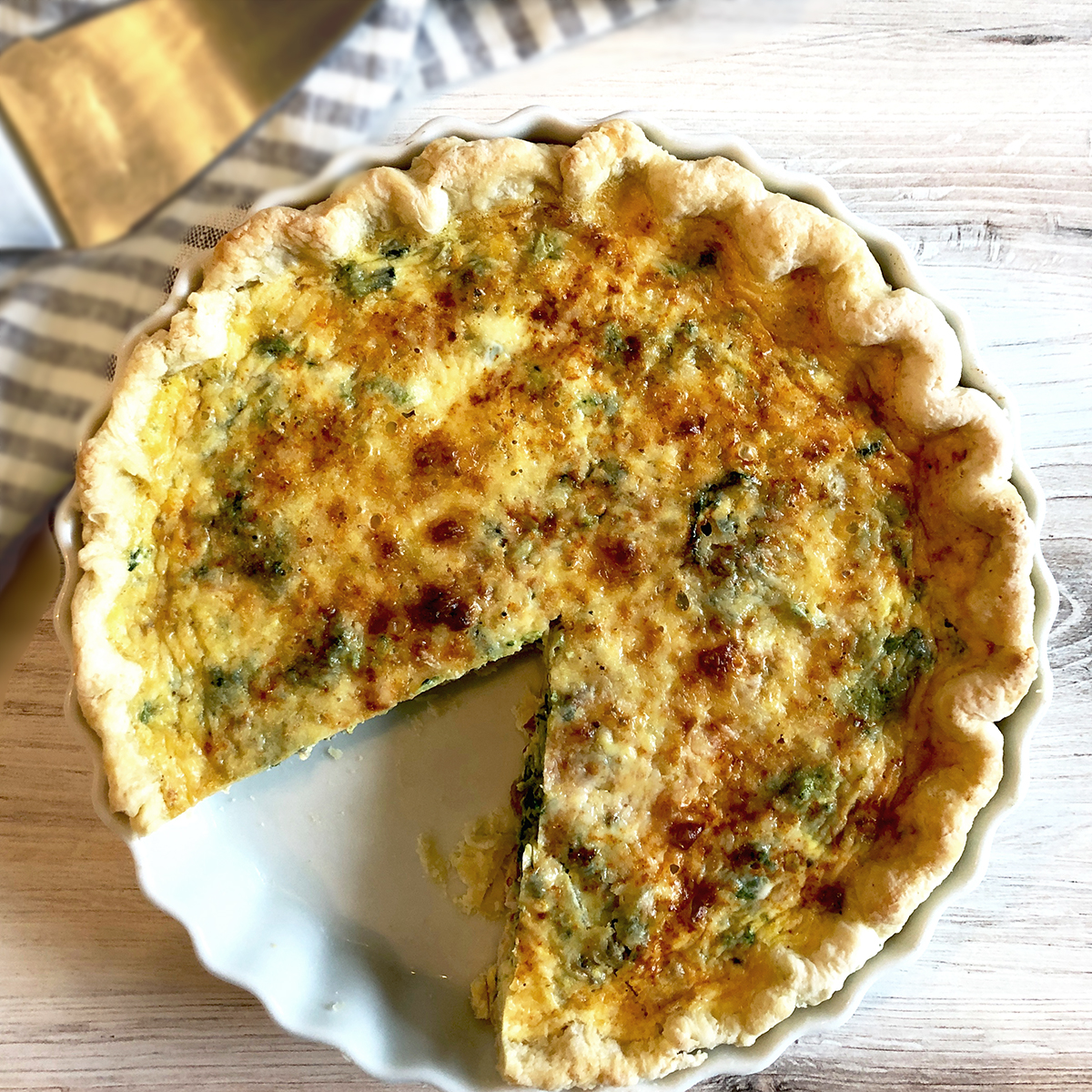 Quiche with Rapini and Bacon