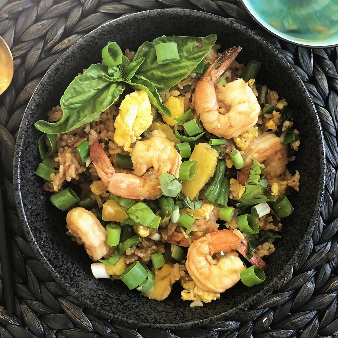 Pineapple & Shrimp Fried Rice