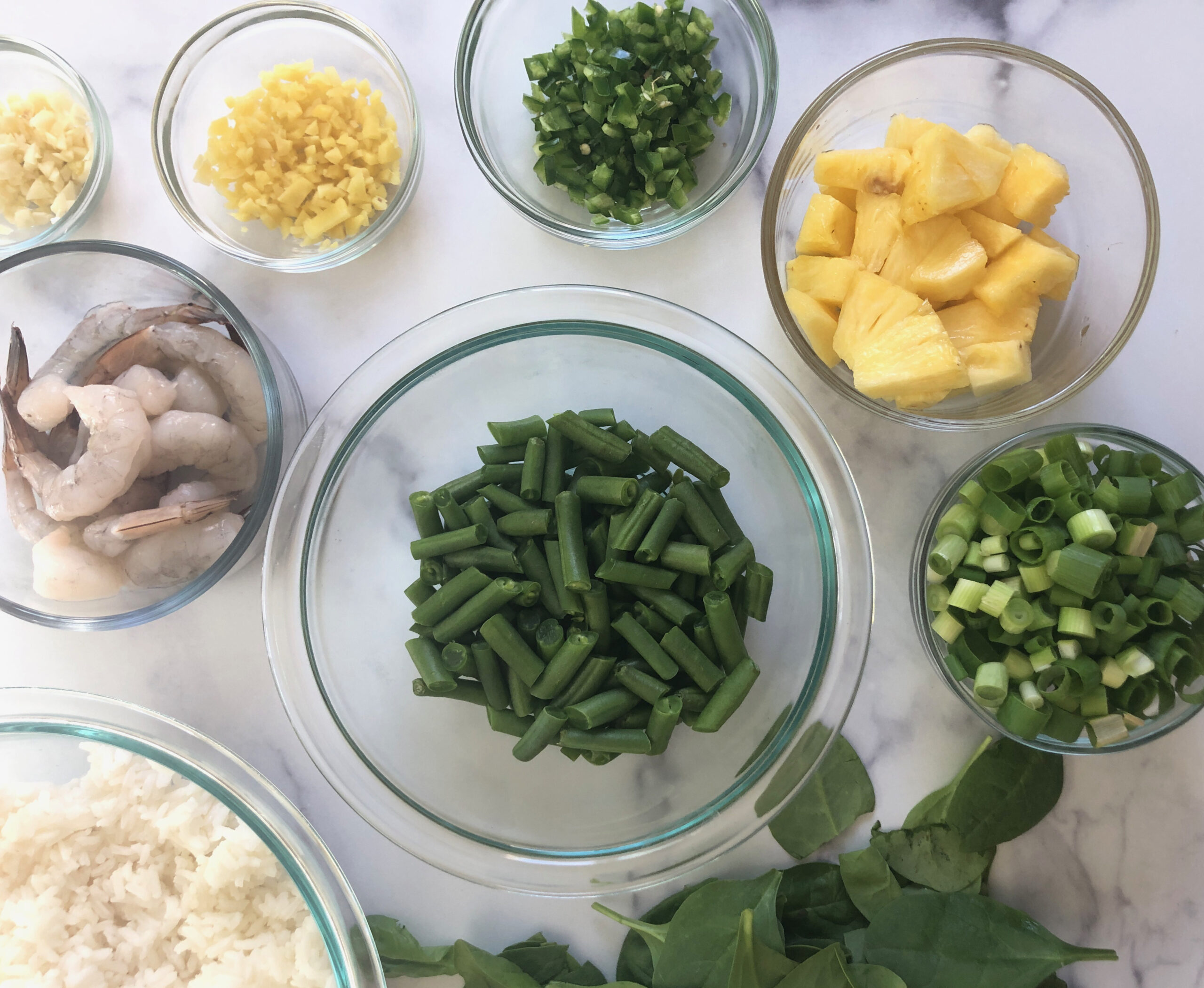 Ingredients for Pineapple & Shrimp Fried Rice