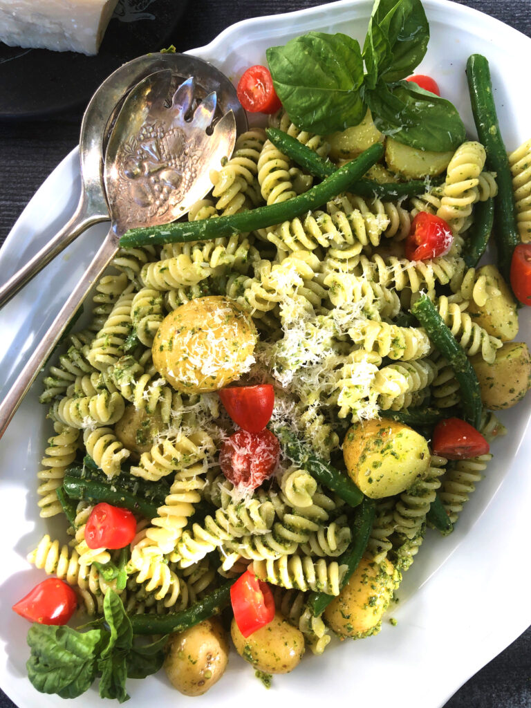 Pesto Pasta with Green Beans and Potatoes